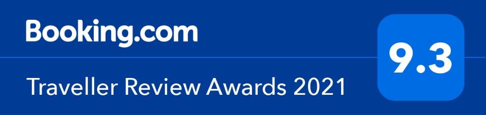 Booking,com Traveller Review Awards 2021 9.3